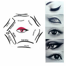 6 in 1 EYELINER Stencil Set Makeup Guide Quick Cat Eye Liner Tool Liquid NEW UK