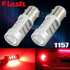 2X 1157 Red Flashing Strobe Blinking Rear Alert Safety Brake Tail Stop Lights
