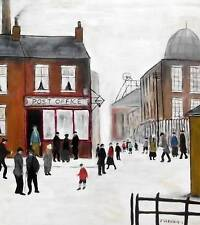 Lowry Post Office : Original Northern ArtOil Painting on Canvas by Jim Glennie