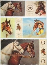 Papel De Arroz Para Decoupage Decopatch Scrapbook Craft Hoja Vintage Caballo Club