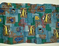 LINED VALANCE 42X15 UNDER THE SEA TROPICAL SALT WATER OCEAN FISH CORAL PATCH