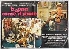 FOTOBUSTA 2, BUONA COME IL PANE, CARMEN RUSSO, SAVERIO MARCONI, SESANI POSTER
