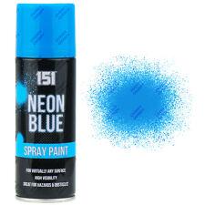 4 x fluorescent neon bleu spray aérosol peinture mat 200ml auto voiture 151 qualité