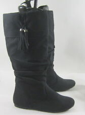 NEW blacks  flat comfortable round toe  slouch sexy  knee sexy boot 10  P