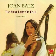 Joan Baez The First Lady Of Folk 2 CD Set 1958-1961 Anthology 49 Songs 60s Folk