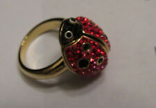 NIB Swarovski Rosemarie Ladybug Ring, Size: 52 / S / 6, Retired, model:1128064