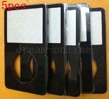 5pcs Front Faceplate Housing Cover for ipod 5th gen video 30GB/60GB/80GB(Black)