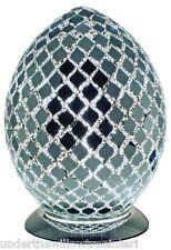 Nouveau fabuleux moyen mosaïque verre miroir carreaux oeuf lampe de table, bureau, de chevet
