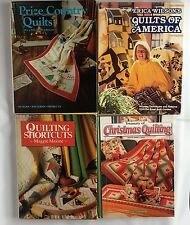 Lot Of 4 Quilt Quilting Books Projects Ideas Patterns Designs VTG Hardcover
