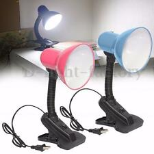 Flexible Reading Lamp Office Study Table Bedside Clip Desktop Light Lampshade