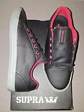 SUPRA ASSAULT BLACK WAXED TWILL RED KIDS (MEN) SHOES SIZE 7 NEW IN BOX
