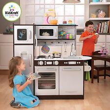 Kidkraft Uptown Espresso Kitchen - Large Wooden Play Kitchen