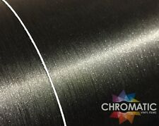 Brushed Black Wrap 1.52 x 3M Metallic Bubble Free Car Wrapping Vinyl Film Foile