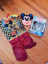 Vintage 1970 Ben Cooper Mickey Mouse Costume In Box Disney TV Hero Small