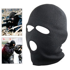 New Black Balaclava SAS Style 3 Hole Mask Neck Warmer Paintball Fishing Ski Hat