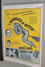 """1942 Movie Film Ad Clipping ~ """"I MARRIED A WITCH"""" Veronica Lake Fredrick March"""