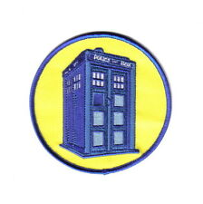 Doctor Who British TV Series Tardis Image Embroidered Patch, (c) 1984 NEW UNUSED