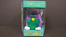 Furby Babies Tiger Electronic Purple Green RARE 1999 70-940 New Old Stock