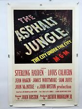 ASPHALT JUNGLE Movie Poster 1950 One Sheet 1SH LINENBACKED Marilyn Monroe
