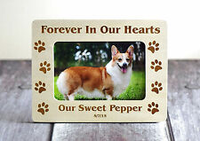 Pet Memorial Frame - Forever In Our Hearts Picture Frame -Cat or Dog -4x6-Custom