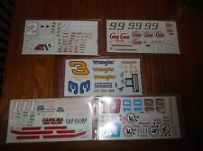 Nascar Decals Lot of 21 for Model Kits 1/24 & 1/25 Scale