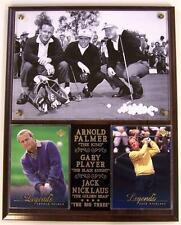 Arnold Palmer Jack Nicklaus and Gary Player Legends of Golf Photo Plaque