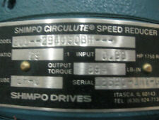201-294030BH SHIMPO CIRCULUTE SPEED REDUCER