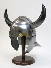 HORNED VIKING HELMET WITH HELMET LINER-MEDIEVAL