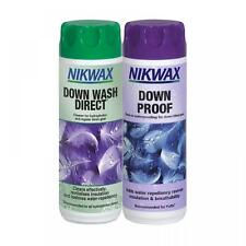 Nikwax Down Wash Direct & Down Proof Twin Pack 300ml Cleaning Waterproof Protect
