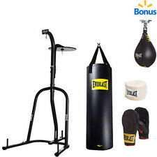 Everlast Dual Station Heavy Bag Stand with100-lb. Kit and Speedbag FREE SHIPPING