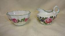 Antique Paragon China Old English Rose Pattern Milk Jug & Sugar Bowl Rd No 1005
