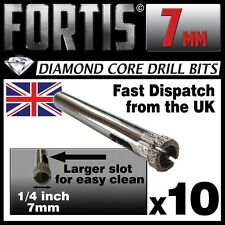 10 x 7mm Diamond Holesaw Tile, Ceramic, Glass, Porcelain, Marble, etc drill bits