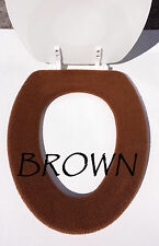 Bathroom Toilet Seat Warmer Cover  Washable High Quality- Brown - LifeLong Needs
