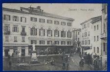 SASSARI  Piazza Azuni  viaggiata animata 1917  f/p #21239