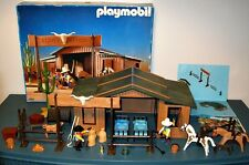 VINTAGE 1987 PLAYMOBIL No. 3768 SILVER RANCH in ORIGINAL BOX w / CATALOG