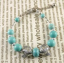 NEW Free shipping Jewelry Tibet silver jade turquoise bead DIY bracelet S277