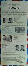 ONE OF THE RAREST MAFIA FBI WANTED POSTERS, AL CAPONE/ROGER TOUHY, FEW EXIST