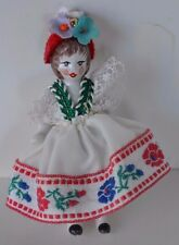 Vintage Miniature Porcelain Doll Frozen Hand Painted International