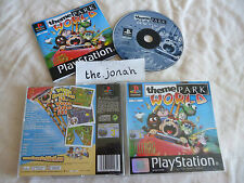 Theme Park World PS1 (COMPLETE) black label Sony PlayStation Bullfrog rare