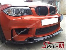 RZ Style Carbon Fiber Front Lip Spoiler Fit For BMW E82 1 Series 1M Bumper