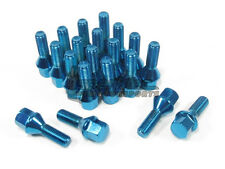 NNR Steel Conical Wheel Lug Bolts Blue 28mm 14x1.25 20pcs BMW MINI Cooper