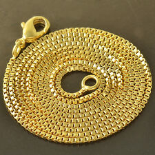 24 Inch 9K Yellow Gold Filled Box Womens & Unisex Chain Necklace,Z4132