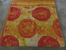 Novelty cheese tomato pizza red orange gold remnant crafts fabric material piece