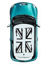 1roof (4pcs) MINI COOPER Roof Decal Graphic Grunge British Flag JCW S Black