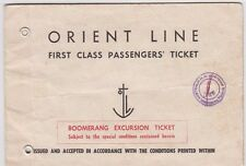 Ship ticket 1956 Orient Line R.M.S Oronsay boomerang cruise John Burn Bailey