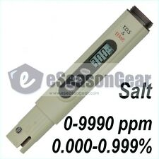 Salt Meter SALT-3000, Calibrated at 3000 ppm, Salt Water Pool & Fish Pond Tester