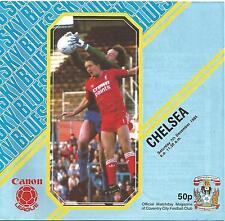 Football Programme - Coventry v Chelsea - Div 1 - 7/12/1985