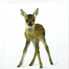 4x Single Table Party Paper Napkins for Decoupage Decopatch Craft Cute Bambi