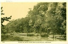 Fayetteville,AR. A 1932 view on the White River