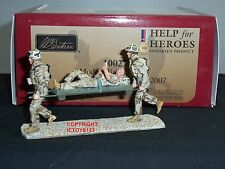 BRITAINS 10027 HELP FOR HEROES BRITISH ARMY IRAQ STRETCHER BEARER TOY SOLDIER
